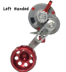 Seigler Small Game Lever Drag Reel Sg Left Handed Silver' Red