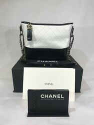CHANEL GABRIELLE QUILTED CALFSKIN HOBO BAG PURSE WHITE MSRP $4500! SHIPS TODAY!