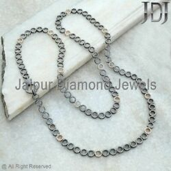Pave Necklace Diamond 14k Gold Chain 925 Silver Sterling Handmade Jewelry Ct 10