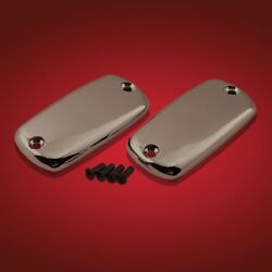 Show Chrome Accessories 2-288sk Smoke Chrome Master Cylinder Covers