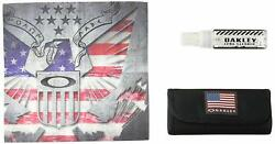 Oakley Lens Cleaning Kit with Case and Lens Cleaning Cloth USA Flag GBP 9.99