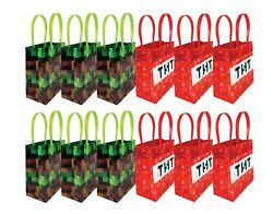 Pixel Miner Themed Party Favor Bags Treat Bags 12 pack $12.99