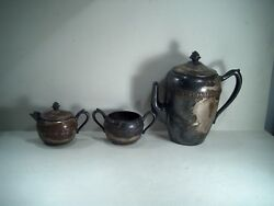 F.b. Rogers Silver Tea/coffee Pot And Sets