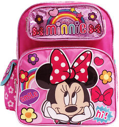 Disney Minnie Mouse 12quot; Toddler School Backpack Girls Canvas Book Bag Pink $19.99