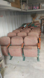 Your Own Theater Seats @ Home Real Deal Folding Wood And Metal Comfy Chairs Look