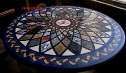 Beautiful Hallway Tables Dining Table Top Pietra Dura Art Marble Table Top 60''