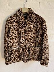 Prorsum Aw15 Animal Print Shearling Fur Jacket Andpound3495 Leather Suede Coat