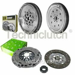 Valeo 3 Part Clutch Kit And Luk Dmf For Audi A3 Convertible 1.6 Tdi