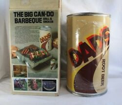 Vtg Rare Dadand039s Root Beer The Big Can Do Barbeque Bbq Grill And Smoker Brand New