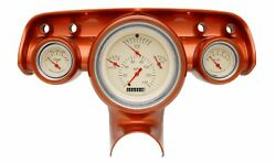 1957 Chevy Bel Air Classic Instruments Gauge Cluster Curved Glass Ch01tslc Tan