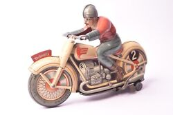 Toy Ancien. Moto Technofix Germany 1945 Us Zone Sheet Metal Lithographed