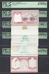 Nepal 5 Progressive Proofs 5 Rupees Nd1985 P30p Uncirculated