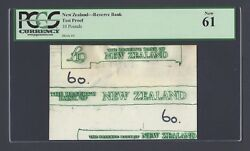 New Zealand Reverse Bank 10 Pounds Test Note Vignette Proof Unciruclated