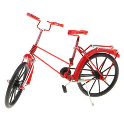 Handicraft Vintage Handmade Iron Bike Red Bicycle Model Art Decor