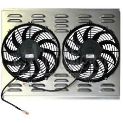 Northern Radiator Auxiliary Engine Cooling Fan Assembly Z40014 Dual Electric