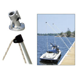 Dock Edge 3120-f Economy Mooring Whips 2pc 12ft 4000 Lbs Up To 23 Ft