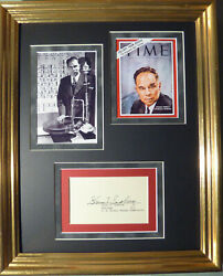 Glenn T. Seaborg 1951 Nobel Prize For Chemistry Autographed Signed Display W/coa