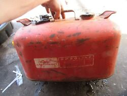 Vintage Omc Johnson Metal Outboard Gas Can Tank 2