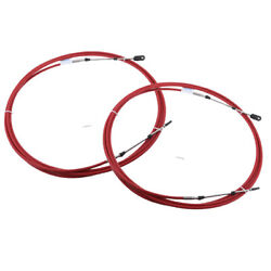 2pcs 21ft Boat Shift Throttle Control Cable For Yamaha Outboard Motor Red