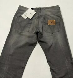 Bnwt Dolce And Gabbana Mens Jeans Grey Distressed Regular Fit W32 L34 Rrp£395