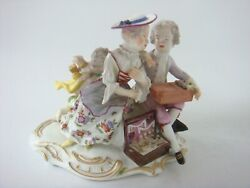 Meissen Porcelain Rare Figure Group - Children And Cupid With Jewellery Box C1760