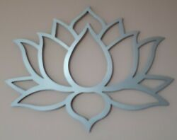 Lotus Flower Metal Art Silver Wall Decor 31 Wide And 23 Tall Silver