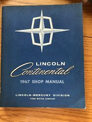 1967 FORD LINCOLN CONTINENTAL Maintenance Service Repair Shop Manual like New