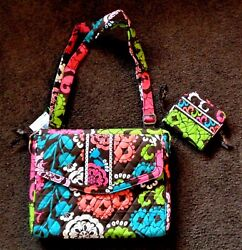 Nwt Vera Bradley Tablet Hipster And Compact Zip-around Wallet In Lola Retired Htf