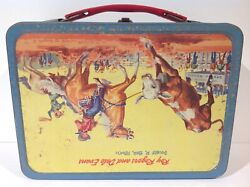 1957 Roy Rogers With Dog Vintage Upside Down Error Mistake Metal Lunch Box Rare