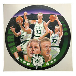Terrence Fogarty Signed Original Larry Bird Canvas Oil Painting Auto Coa 1/1
