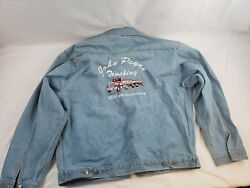 John Payne Trucking 45th Anniversary Tri Mountain XL Denim Blue Jean Jacket Vtg $29.99