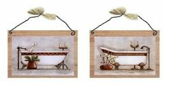 Victorian Pairs Bathroom Pictures Red Old Tubs Bed Bath Wall Hangings Plaques