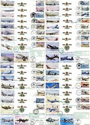 Complete Set Of All 30 Raf 75th Anniversary Covers Each Certified Signed