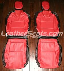 2010-2015 Chevy Camaro Coupe Or Convertible Leather Seat Covers Black/red New