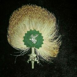 Vintage German / Scottish Hunter Hat Brooch Pin Reindeer W Feather Approx 4.25h