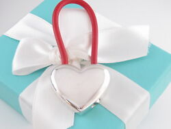 New And Co Silver Red Rubber Heart Keychain Packaging Box Pouch