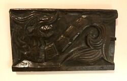 Superb Important And Rare 16th Or 17th Carving Of A Wyvern