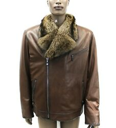 DLM2-Shearling With Racoon Collar (Custom  All Sizes Available)