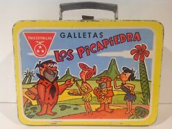 1967 Mexican Flintstones Metal Lunch Box Only Ultra Rare From Mexico No Thermos