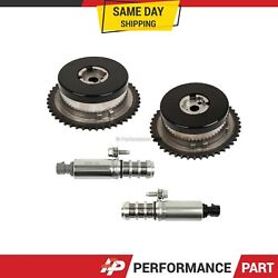 Pair Variable Timing Sprocket Camshaft Actuator Gear Solenoid For Gm 2.0l 2.4l