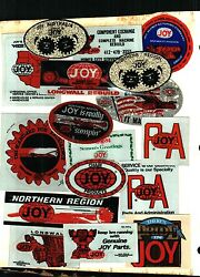 Huge Lot Of 100 Different Joy Coal Mining Stickers