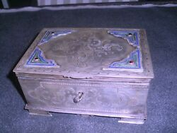 Antique Russian Imperial Silver And Enamel Box