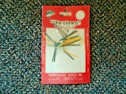 Vintage Nos Championship Tackle Inc. The Clown Its A Cut Up Spinnerbait