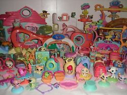 Hasbro Littlest Pet Shop HUGE LOT of Collector LPS + accessories + playsets