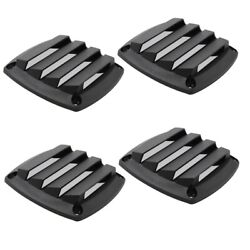 4x 3 Inch Black Plastic Louvered Vents Boat Marine Parts Vent Grill Cover