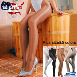 Plus Size Women 70D Pantyhose Stretchy Shiny Glossy Stockings Dance Tights 200lb $7.99