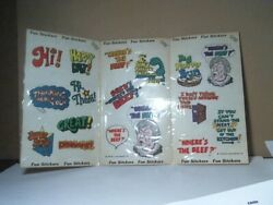 Vintage 1984 Wendy's Where's The Beef Stickers And Others - Sealed In Plastic