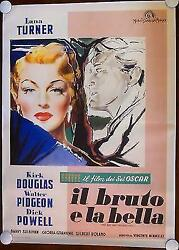The Bad And The Beautiful - Lana Turner 1953 Italian 2p Movie Poster Lb