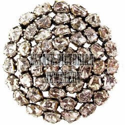 5.80Cts Genuine Antique Cut Diamond Silver Victorian Cluster Brooch Pin Jewelry