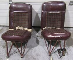 Piper Aztec Seats - Pilot Copilot Two Center Seats And Back Bench Seats